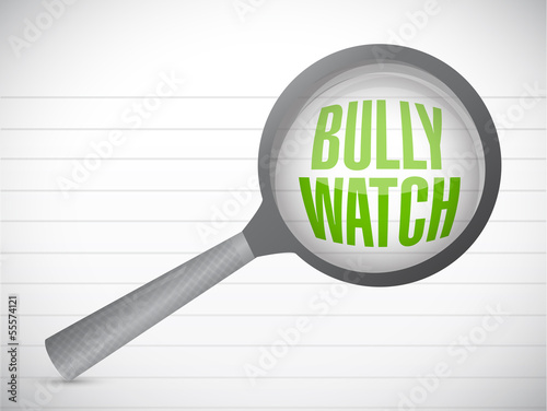 bully watch sign illustration design