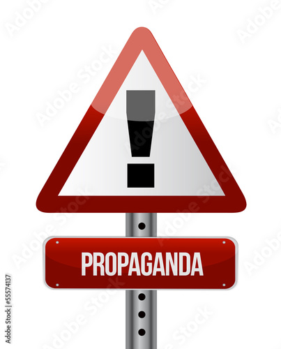 propaganda road sign illustration design