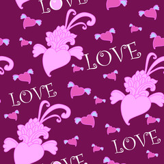 purple love background