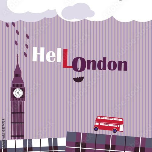violet english background - 55574739