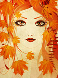 Autumn floral girl