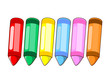 wax crayons colour isolated illustration