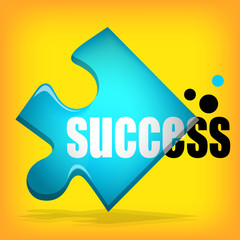 success on yellow background