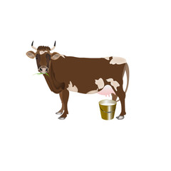 Dairy cow.Vector