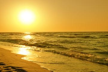 lovely sunrise over the sea