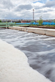 Aeration volumes for water in wastewater treatment plant
