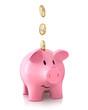 Sparschwein mit Euromünzen