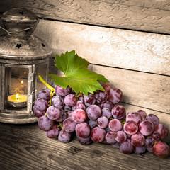 uva rossa con lanterna