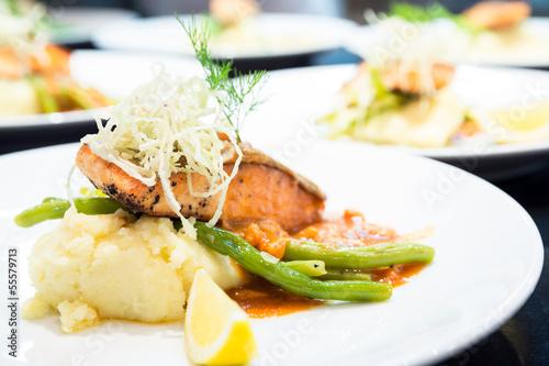 gourmet Grilled Salmon Steak