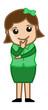 Woman Wondering - Office Corporate Cartoon People