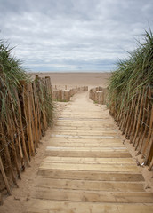 planked walkway to the beach
