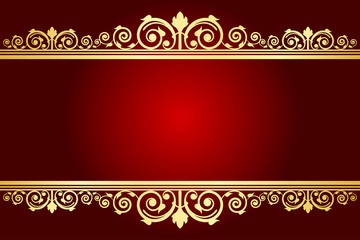 Vector royal background with decorated frame