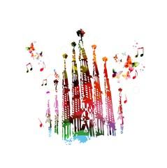 Beautiful Sagrada Familia design.