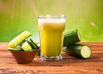 cucumber fresh juice drink