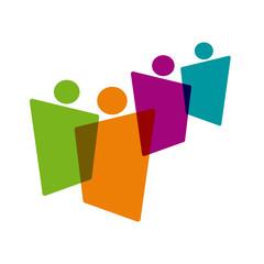 Vector logo teamwork