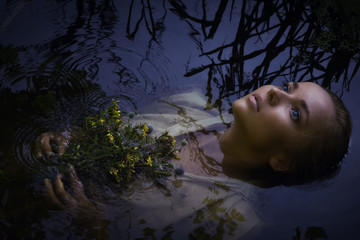 Young drown woman