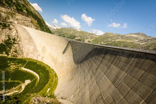 Spoed canvasdoek 2cm dik Dam Kaprun dam ,Austria
