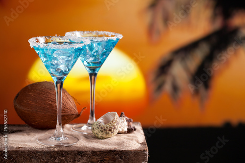 Blue Cocktail Drink