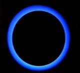 Ultraviolet light blue poster
