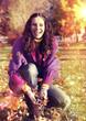 Herbsttag lachen