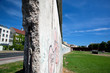 Berlin Wall Memorial with graffiti. The Gedenkstatte