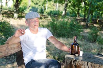 Man enjoying his vices