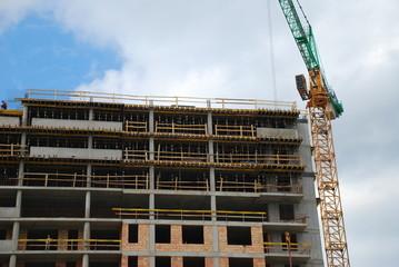 Blok w budowie - mieszkania