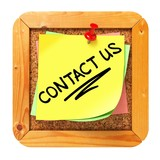 Contact Us. Yellow Sticker on Bulletin.