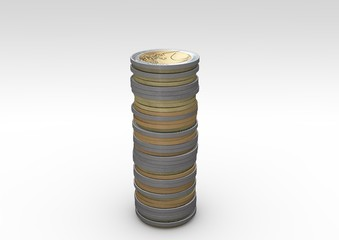 euro münzenstapel