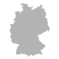 deutschlandkarte grau I