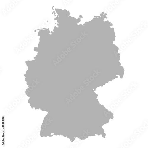 deutschlandkarte grau I - 55585158