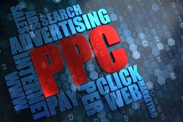 PPC. Wordcloud Concept.