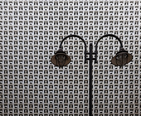 Lamp and Repetitive Wall