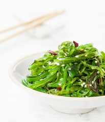 Seaweed Salad sprinkled with Sesame Seeds