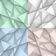 Origami backgrounds in four colors