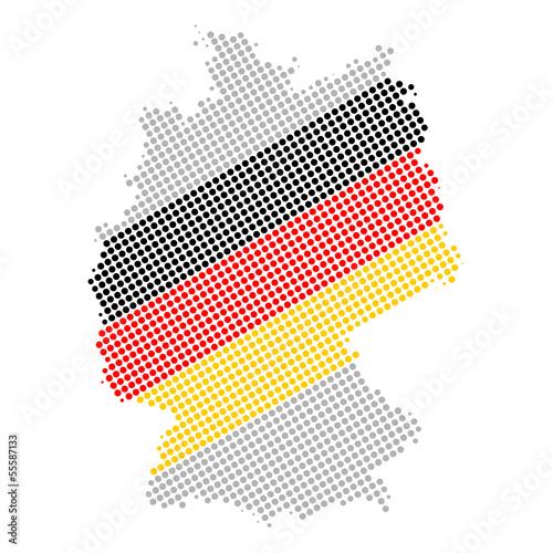 deutschlandkarte grau gepunktet II