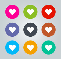 Heart - Metro clear circular Icons