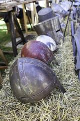 Medieval war helmets