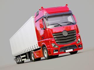 Semi-trailer truck