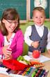 Kinder machen Schulpause