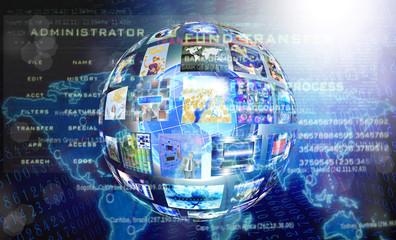 Internet technology background