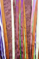 Colored satin strips