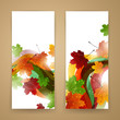 Vector Illustration of Two Abstract Autumn Banners