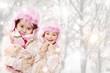2 Mädels im Winteroutfit