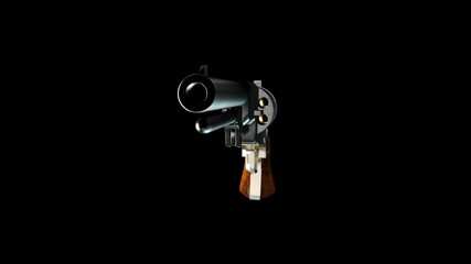 Old Revolver with Alpha