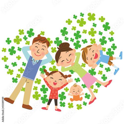 クローバーと家族