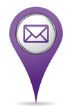 purple location mail icon for web