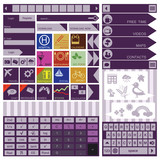 Flat User Interface Elements. Calculator. Icons