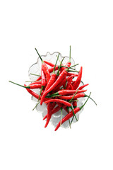 Red paprika in a bowl.