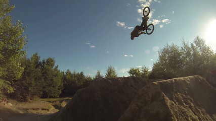 Extreme Sport BMX Backflip Super Slow Motion